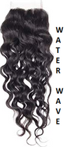 Red| Funmi Curl| Water Wave| 4x4 | 100% UNPROCESSED HUMAN HAIR BLEACHED KNOT LACE CLOSURES - JKAs Effulgent Hair LLC