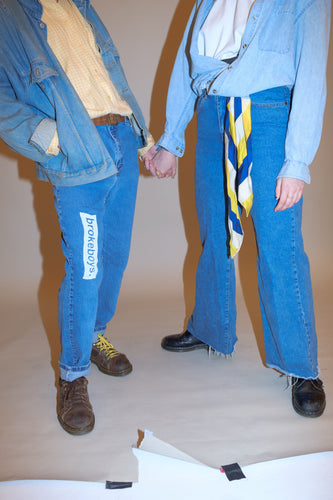 brokeboys. two-panel jeans