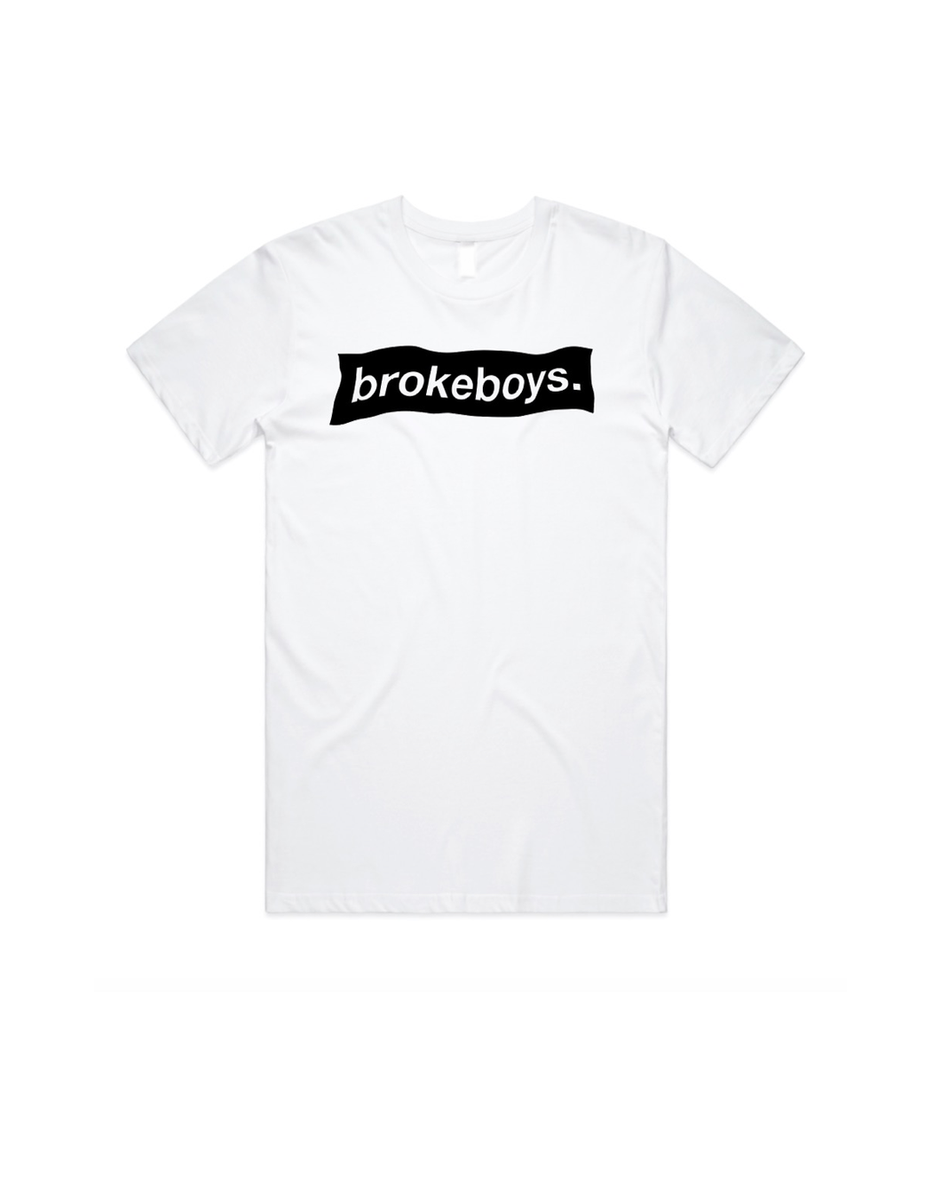 brokeboys. repurposed white shirt