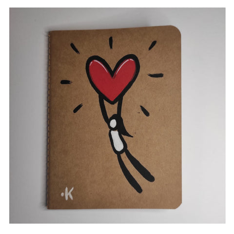 "Exitenter notebooks ""heart for her"""