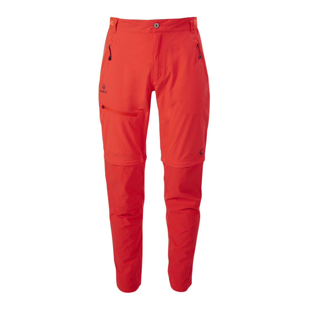 Halti Pallas men's Lite Zip off pants red