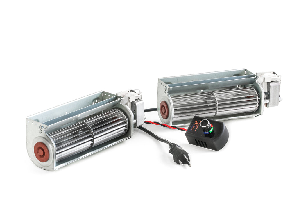 Double Fireplace Blower 150 cfm with Speed Control