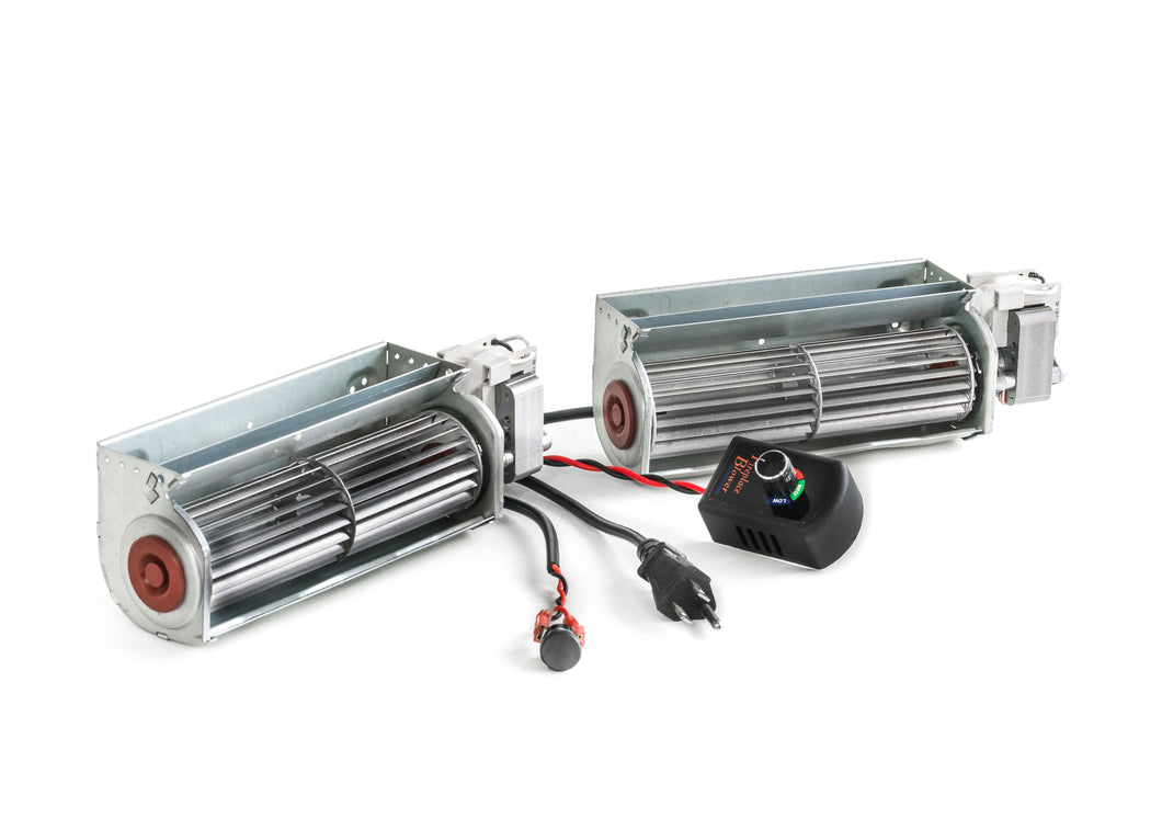 Double Fireplace Blower 150 cfm Kit