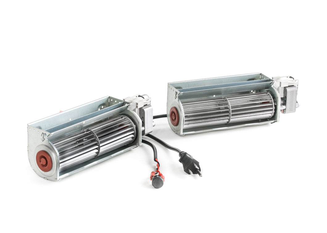 Double Fireplace Blower 150 cfm with Temperature Sensor - FBDT150