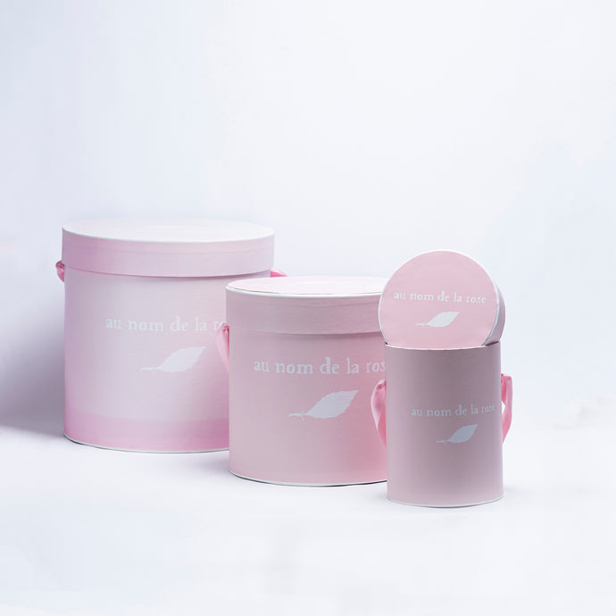 Branded Round Boxes Light Pink