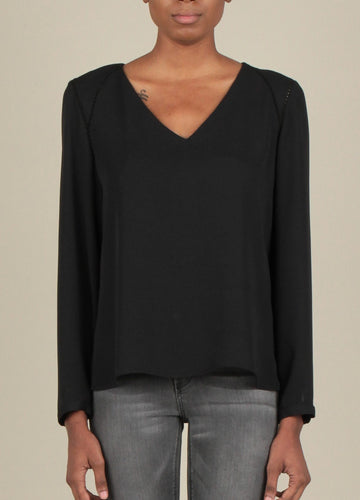 All Black Everything Long Sleeve Blouse