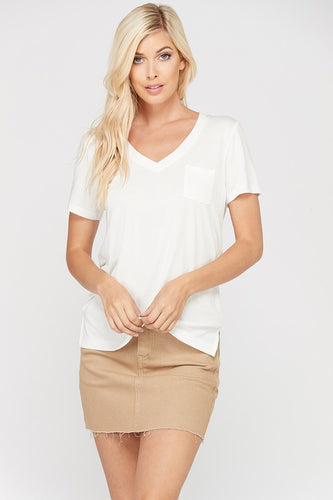 Betty Basic Bamboo Tee with Pocket