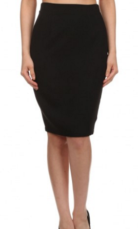 EVERLY Ethel Black Pencil Skirt