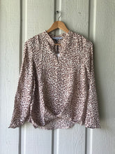 Izzy Leopard Long Sleeve Printed Blouse