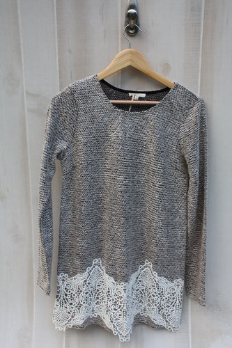 MYSTREE Lacey Peppered Sweater