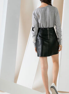 Lux Leather Black Skirt