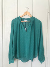 Green with Envy Long Sleeve Printed Blouse