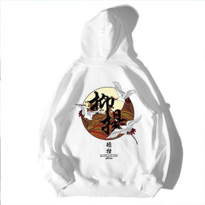 Chinese character Printed Fleece Hoodies - gucchol
