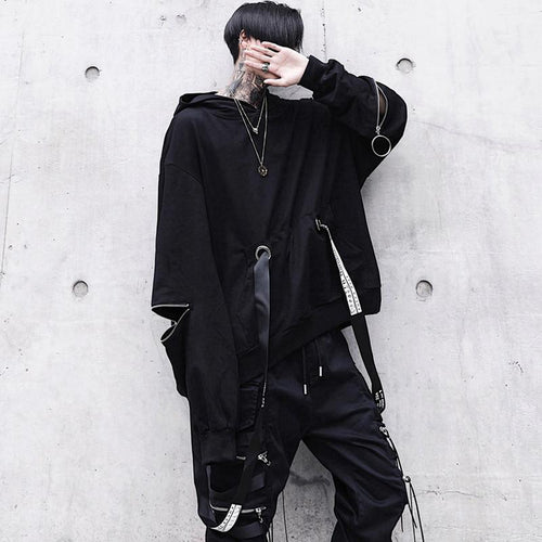 2019 new male dark loose hooded sweater - gucchol