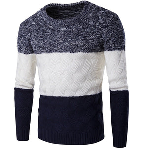 New Simple Men's Turtleneck Turtleneck Sweater Solid Color Sweater - gucchol
