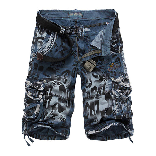 Summer men's cotton loose casual overalls camouflage shorts - gucchol