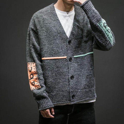 Men Patchwork Sweaters - gucchol