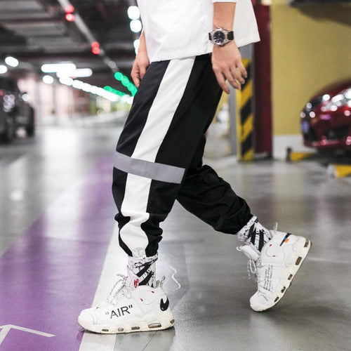 Mens Reflective Joggers Pants Male Streetwear - gucchol