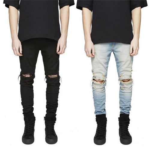 Men Ripped Jeans With Holes - gucchol