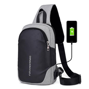 Multifunction Crossbody Bags Men USB Charging Chest Pack Short Trip Messengers Chest Bag - gucchol