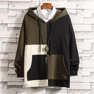 Men's casual fashion Contrast hoodie sweater - gucchol