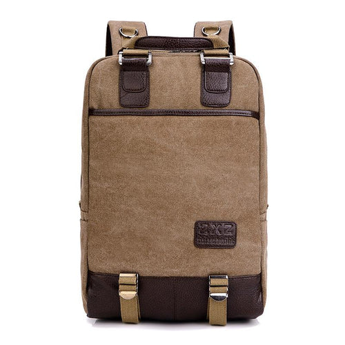 Fashion casual multi-function canvas backpack retro travel backpack - gucchol