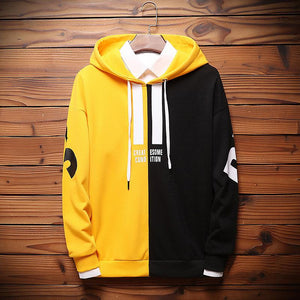 Contrast Color Letter Pullover Hoodie - gucchol