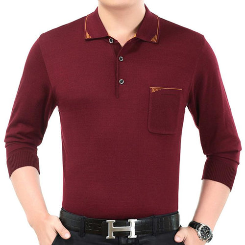 Men's Solid Color Casual Slim Long Sleeve Thin Sweater - gucchol