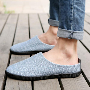 2019 summer breathable linen half drag casual lazy shoes - gucchol