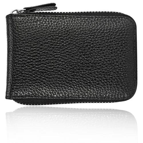 Practical Leather Man Wallet with Zipper Closure - gucchol