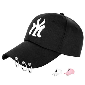 Korean version of the baseball cap outdoor sunscreen sun letter caps couple casual hat - gucchol