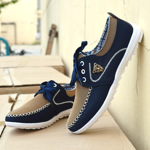 New brand canvas casual men shoes british loafers flats mens masculino jogging driving shoes - gucchol