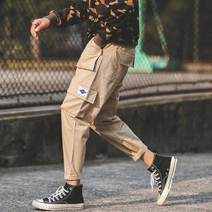Tide brand multi-pocket loose beam casual pants - gucchol