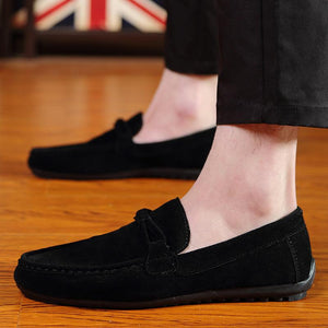 Men Soft Moccasins Loafers High Quality Genuine Leather Shoes - gucchol