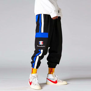 Couple loose retro hip hop casual sweatpants - gucchol