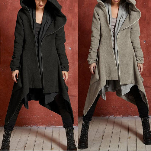 Fashion irregular trench coat - gucchol