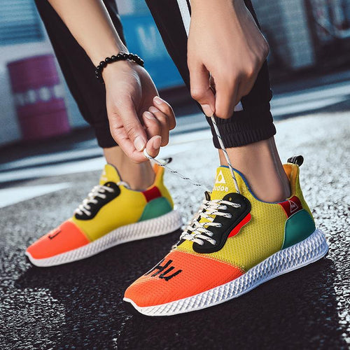 2019 spring and summer new flying woven sports shoes men's fashion running shoes - gucchol