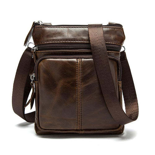 Men Shoulder bag Genuine Leather Messenger Bag - gucchol