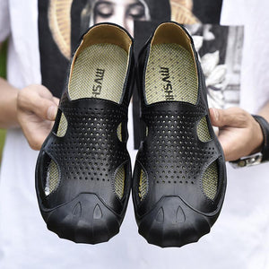 men's sandals Roman style summer breathable casual shoes - gucchol