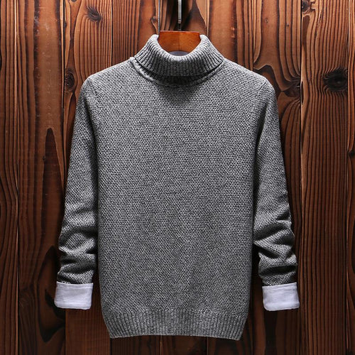 Fashion striped simple and comfortable breathable turtleneck sweater - gucchol