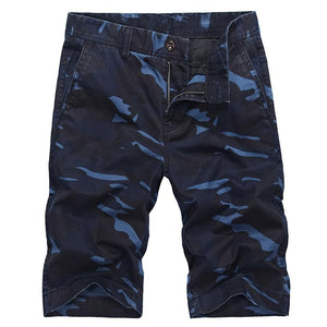 Camouflage shorts men's casual loose cotton breathable overalls - gucchol