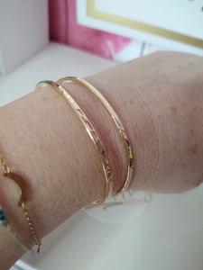 Hammered Gold Cuff