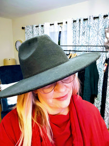 Wide Brimmed Wool Felt Hat