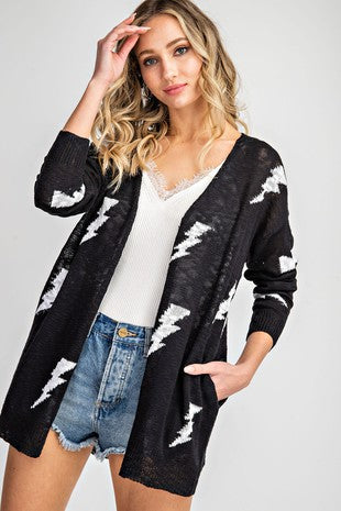 Lightning Strikes Cardigan