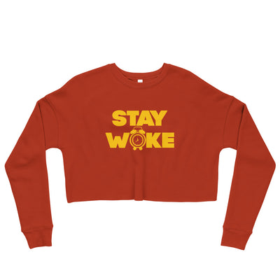 Stay Woke Alarm Crop Sweatshirt - Black Conscious Apparel Black Lives Matter