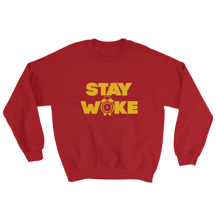 Stay Woke Alarm Sweatshirt - Black Conscious Apparel Black Lives Matter