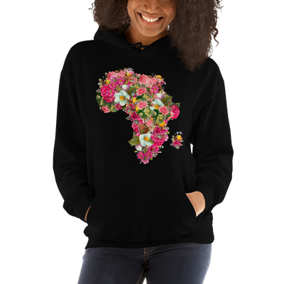 African Flower Bomb Hoodie - Black Conscious Apparel Black Lives Matter