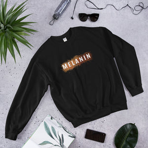 Melanated - Melanin Sweatshirt - Black Conscious Apparel Black Lives Matter