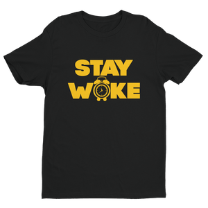 Stay Woke Alarm T-shirt - Black Conscious Apparel Black Lives Matter