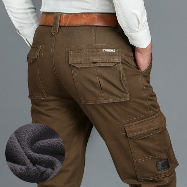 Fleece-Lined Winter Cargo Pants